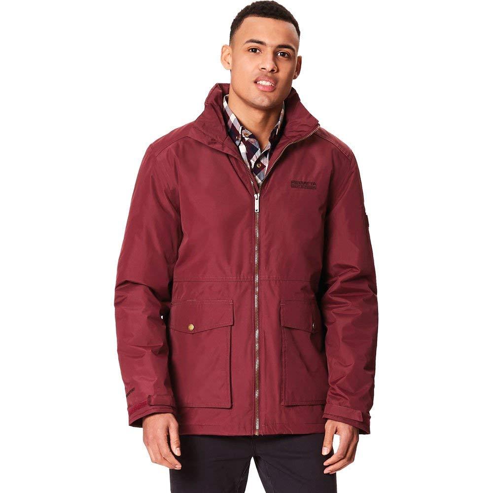 Regatta Mens Hebson Waterproof Insulated Concealed Hooded Jacket