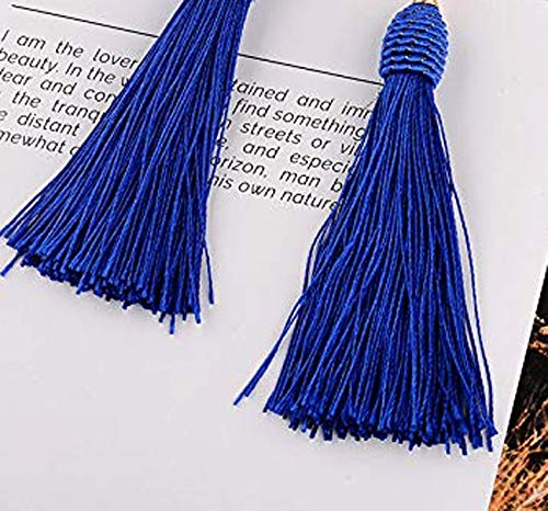 Long Tassel Beads Earrings Pierced Drop Fringe Thread Dangle Light Weight Girls