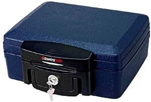 Sentry Fuego - Caja de almacenaje con llaves para mayor seguridad, azul