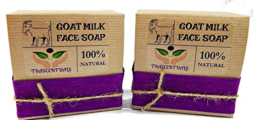 Goat Milk Soap Anti-Aging Formula For Face Cleaning and Moisturizing Made With Frankincense Essential Oil and Clary Sage Which Provide Astringent Properties For The Skin (2 (Cleansing Milk With Sage)