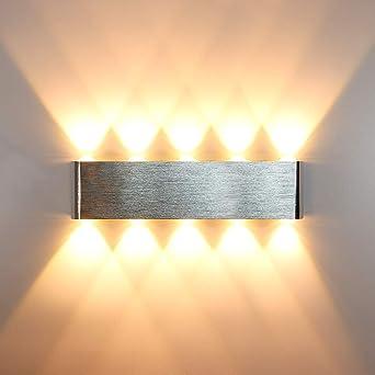 HAWEE Moderno LED Apliques de Pared Interior LED Bañadores de Pared Aluminum LED Luz de Pared para Dormitorio, Pasillo, Sala de Estar, Escaleras, KTV, 20W Blanco Cálido: Amazon.es: Iluminación