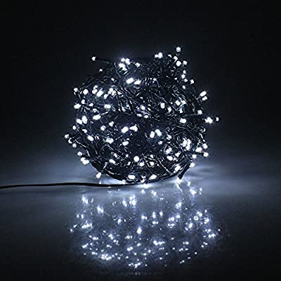 RPGT 200 to 1000 LEDs Dark Green Cable 30V Low Voltage Fairy String Tree Lights 8 modes Memory Function IP44 Waterproof for Wedding, Home Decoration, Christmas Party, Patio, Garden etc.