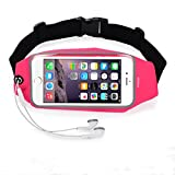 Universal Running Belt Waist Pack, WOFALA Outdoor Sports Phone Bag with Clear Touchscreen,Waterproof Travel Running Jogging Workout Belt For iPhone6/6S Plus&Android Smartphones-Pink Review