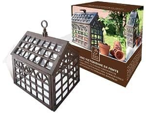 Jardin - Invernadero en forma de casa (hierro forjado)
