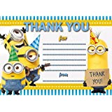 20 X Glossy Thank You Cards Inspired By Minions From Despicable Me