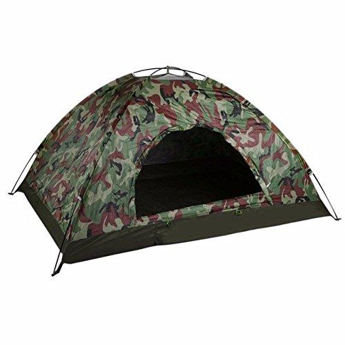 Malilove Outdoor Portable Single Layer Camping Zelt Camouflage 2 Personen Wasserdichte Leichte Strand Angeln Jagd Zelt Wigwam