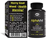 Horny Goat Weed | AlphaViril by Dr Sam Robbins | Naturally Boosts Testosterone, Increases Libido, Sex Drive, Strength, Stamina, Energy, Builds Muscle |Made In USA | Maca Root Tongkat Ali Yohimbe