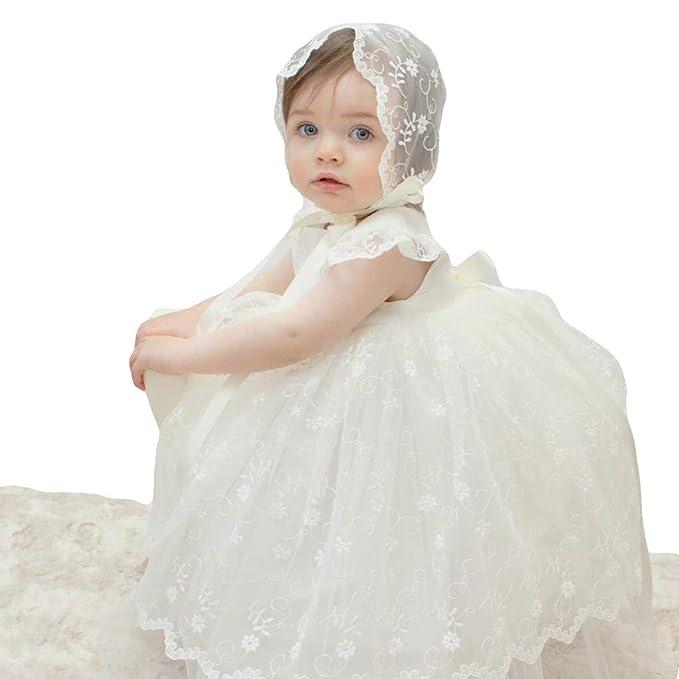 00ce376da ShineGown - Ropa de Bautizo - para bebé niña Marfil 6-9 Meses  Amazon.es   Ropa y accesorios