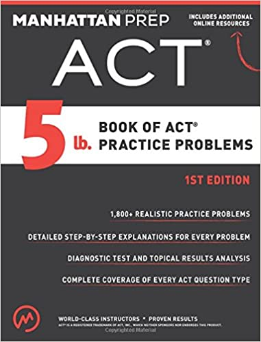 Image result for 5 lb. book of ACT practice problems.