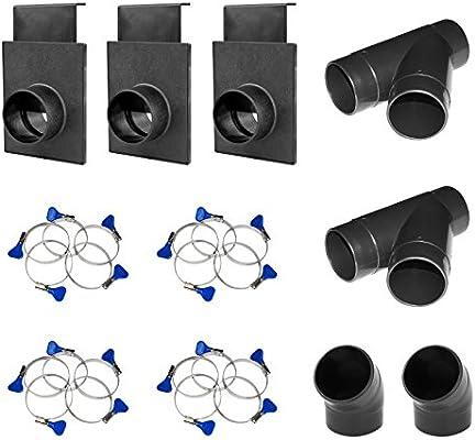 POWERTEC 70283 4-Inch Dust Collection Bench Nozzle w//Quick Change Handle