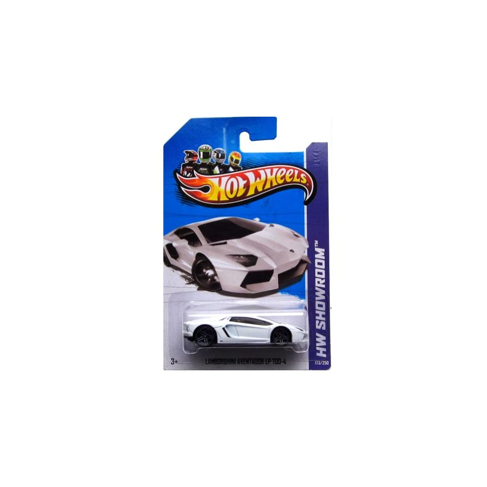 Hot Wheels 2013, Lamborghini Aventador LP 700 4 (WHITE), HW SHOWROOM, #173/250. 164 Scale. Toys & Games