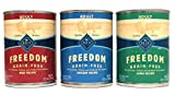 Blue Buffalo Freedom Grain Free Wet Adult Dog Food Variety Pack - 3 Flavors (Lamb - Chicken - & Beef) - 12.5-Ounces Each by Blue Buffalo