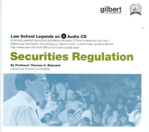 Securities Regulations (Law School Legends Audio Series)