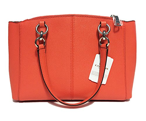 Crossgrain in Coach Christie Leather Orange Bright Carryall qtEAxwrE