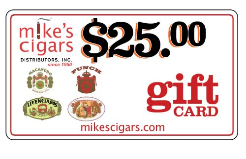 Mikes Cigars $25.00 Holiday Gift Card