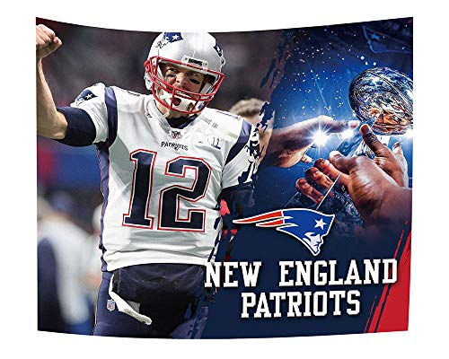 New Tapestry Patriots England (Gloral HIF New England Patriots Blanket Tapestry Hanging Decor Wall Decals for Gifts 50x60 Inches)