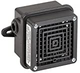 Signaling Device, Continuous Sound Pattern, 120VAC Voltage, Decibels: 100dB @ 10 ft., Color: Black