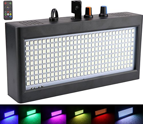 270 LED Strobe Lights Mini, Latta Alvor Stage Light for Parties DJ Lighting KTV Flashing 7 Colors Strobe Lights Romote control (color light)]()