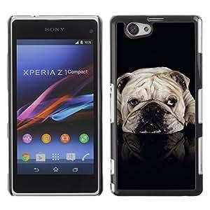 VORTEX ACCESSORY Hard Protective Case Skin Cover - English British bulldog black dog pet - Sony Xperia Z1 Compact D5503