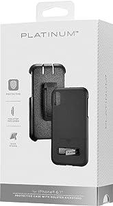 Platinum - Holster/Kickstand Case for Apple iPhone XR - Black