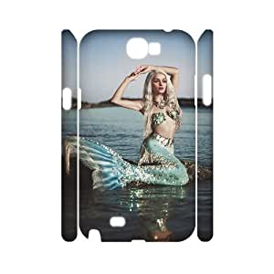 case Of Mermaid Customized Hard Case For Samsung Galaxy Note 2 N7100