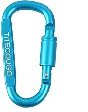 TITECOUGO D Rings Aluminum Locking Carabiner Multi Function Tool Multiple Colors