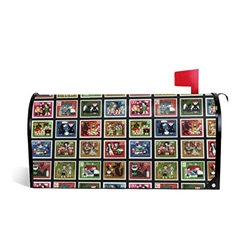 - Mailbox Covers Standard Size Magnetic Mail Cover Fairy Tale Stamps Wraps Letter Post Box Cover 21
