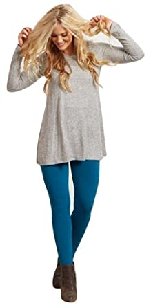 c4516ddd5 Image Unavailable. Image not available for. Color  BOGO Leggings Dark Teal  Cotton Full Length Tights - S
