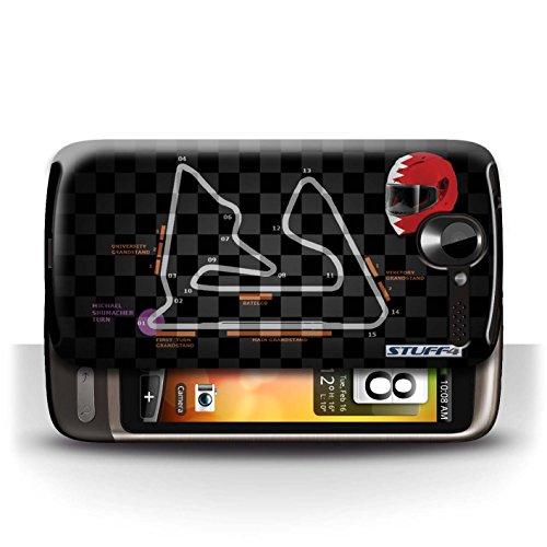 Etui / Coque pour HTC Desire G7 / Bahreïn/Sakhir conception / Collection de 2014 F1 Piste