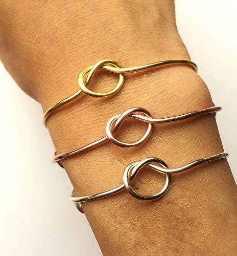 Knot Bracelet -Bridesmaid Gift Set 3 4 5 6 7 8 9 -Adjustable Tie the Knot Bangle Charms -Gold/Rose Gold/Silver -Knotted -Wedding Proposal