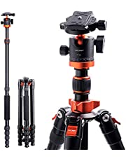 """Camera Tripod, K&F Concept 67"""" Aluminum Tripod Monopod with 360 Degree Ball Head, 1/4"""" Quick Release Plate and Carrying Case for DSLR Canon Nikon Sony -Load Capacity 22 lbs/10kg"""