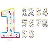 """Folat 22922, Candela Colorata a Forma di Due 2"""" - Adatta per Torte di Compleanno"""