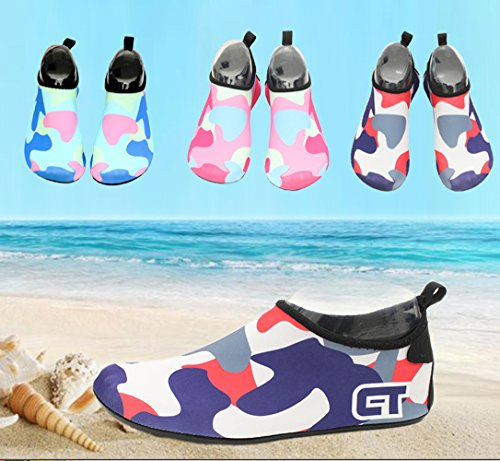 SexRt Männer und Frauen Mutifunctional Wasser Schuhe zum Schwimmen, Pool, Strand Dunkelblau