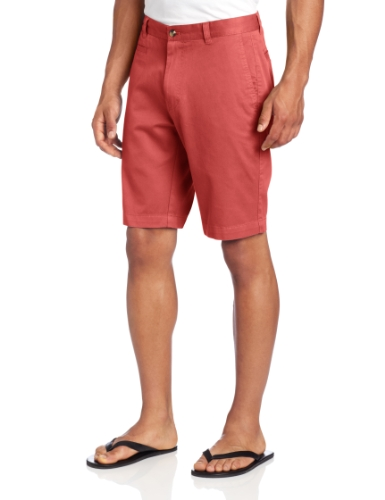 Louis Raphael Men's Slim Fit Garment Dye Short, Red Clay, 36