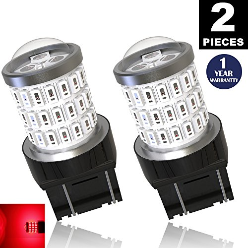 LUYED 2 x Super Bright 9-30v 7440 7443 T20 LED Bulbs Used For Brake lights,Tail lights,Red (03 Acura Tl Tail Light)