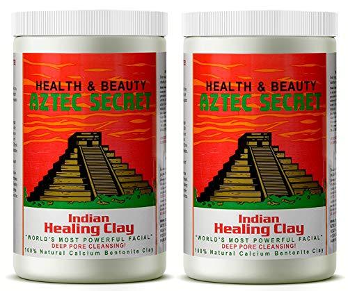 (Aztec Secret - Indian Healing Clay - 2 lb. (Bundle of 2) | Deep Pore Cleansing Facial & Body Mask | The Original 100% Natural Calcium Bentonite Clay – New! Version 2)