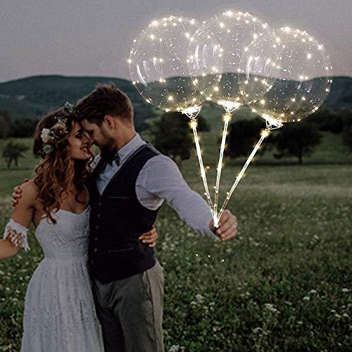 Hot Sale!DEESEE(TM)Reusable Luminous Led Balloon Transparent Round Bubble Decoration Party Wedding