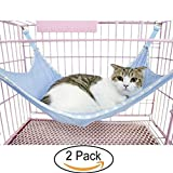 Pet Cats Breathable Mesh Hammock Mat Bed Pet Cage Chair Hammock for Cats - Ferret - Rat - Chinchilla - Rabbit - Small Dogs