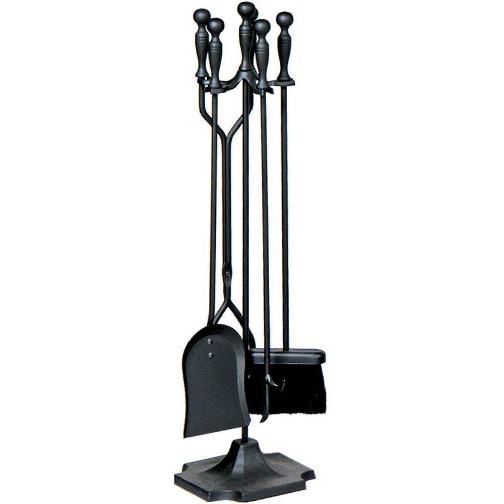 amazon com uniflame 5 piece fireset with ball handles black