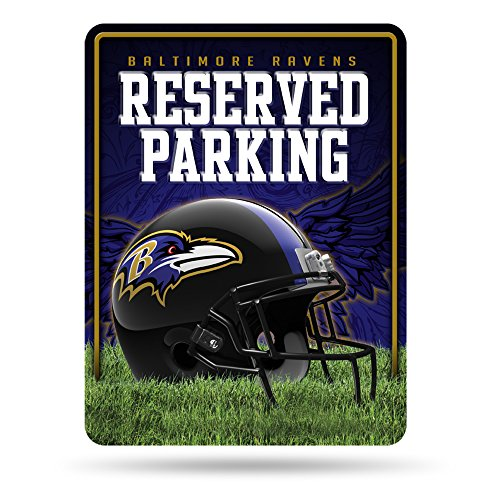 NFL Baltimore Ravens 8-Inch by 11-Inch Metal Parking Sign Décor