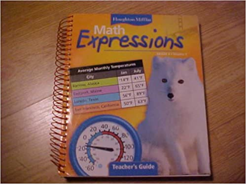 Math Worksheets houghton mifflin math worksheets grade 5 : Amazon.com: Math Expressions, Grade 4, Volume 1, Teacher's Guide ...