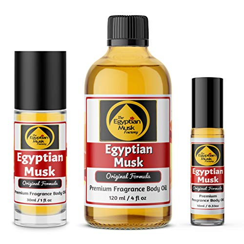 (Egyptian Musk Oil, Choose from 0.33oz Roll On to 4oz Glass Bottle, by WagsMarket - The Egyptian Musk FactoryTM (1oz Roll On Bottle))