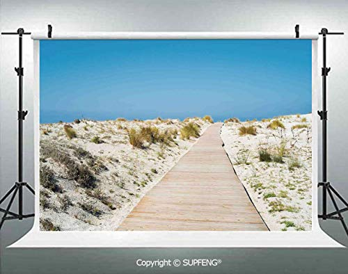 Background Footpath on Le Dune Beach in South of Sardinia Island Italian Style Peaceful Hours 3D Backdrops for Interior Decoration Photo Studio Props