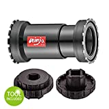 Token Threaded-Press Fit Bottom Bracket for BB386 (Φ46x86.5mm) Frame to BB386 Crankset, or PF30 (Φ46x68mm) Frame to BB30 Crankset, Ninja BB (Including tools)