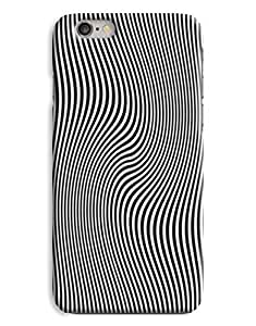 Wavey Black & Whte Womens Fashion Design 3D Printed Design iPhone 6 Hard Case Protective Cover Shell