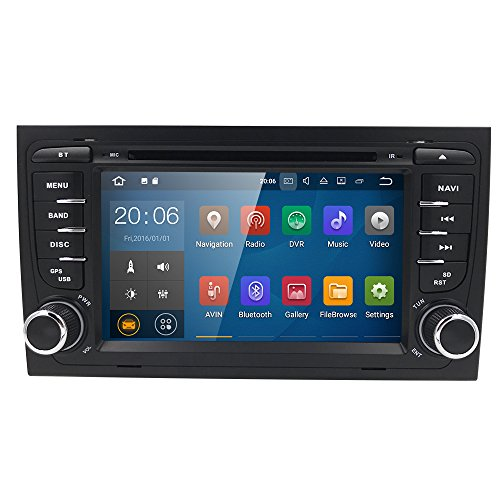 Android 7.1 Car GPS Stereo For Audi A4 S4 RS4 B6 B7 Seat Exeo  Quad Core DVD Player Wifi BT 4G Radio RDS USB Mirrorlink SWC + Optional Digital TV/OBD2/Front DVR Camera/Reverse Camera by HIZPO