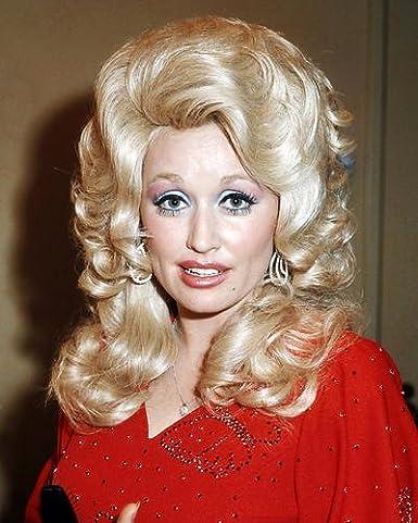 Dolly Parton Red Dress Blonde Hair Rare 8x10 Hd Aluminum