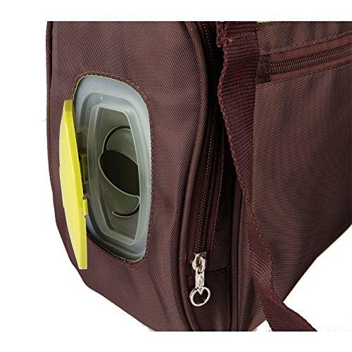 Yodo roomy cochecito de bebé bolsa de pañales para madres - Plus limpiador dispensador caso, cochecito correas y aislado Biberón - Bolsa de soporte por asa ...