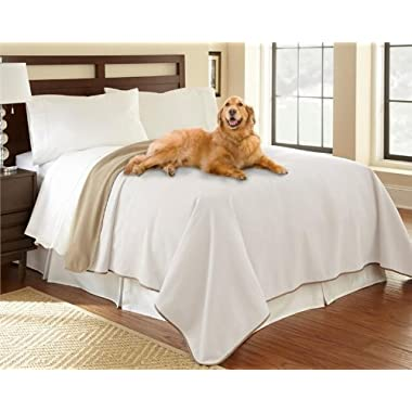 100% Waterproof Mambe Furniture Cover for Pets and People (King/Queen 90 x90 , Buff-Camel)