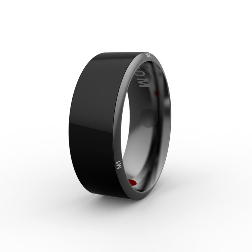 OWIKAR Smart Ring R3 Android WP Compatible NFC Magic Ring Black Waterproof App Enabled for Nokia, Sony, Samsung, HTC, MIUI Smart Phones High-Tech Wearable Intelligent Devices (Size 8)